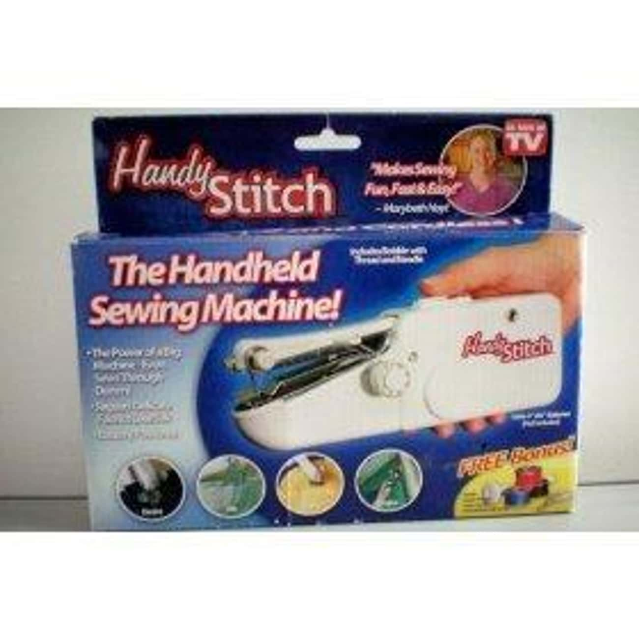As Seen On Tv Handy Stitch Han is listed (or ranked) 4 on the list The Best Hand Held Sewing Machine