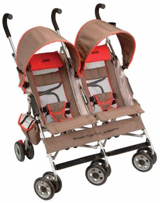 Jeep Wrangler Twin Sport All-W... is listed (or ranked) 1 on the list The Best Strollers for Twins