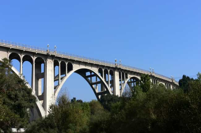 Colorado Street Bridge ... is listed (or ranked) 8 on the list Famous Bridges in California