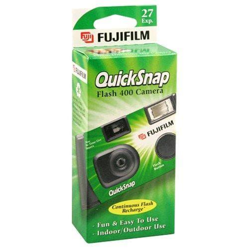 Fujifilm QuickSnap Flash 400 Disposable 35mm Camera on Random Best Disposable Cameras