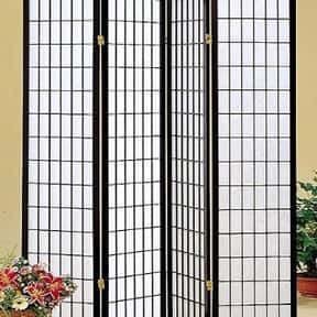 Coaster Oriental Style 4-Panel Room Screen Divider