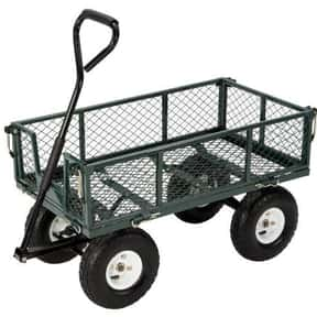 Farm & Ranch FR110-2 Steel Utility Cart with Removable Folding Sides and 10-Inch Pneumatic Tires