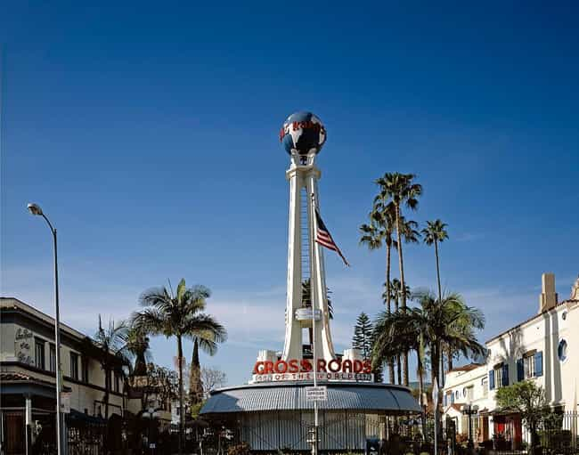Crossroads of the World is listed (or ranked) 2 on the list Hollywood Architecture: Famous Landmarks and Buildings