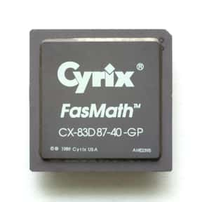 Cyrix is listed (or ranked) 15 on the list The Best CPU Manufacturers