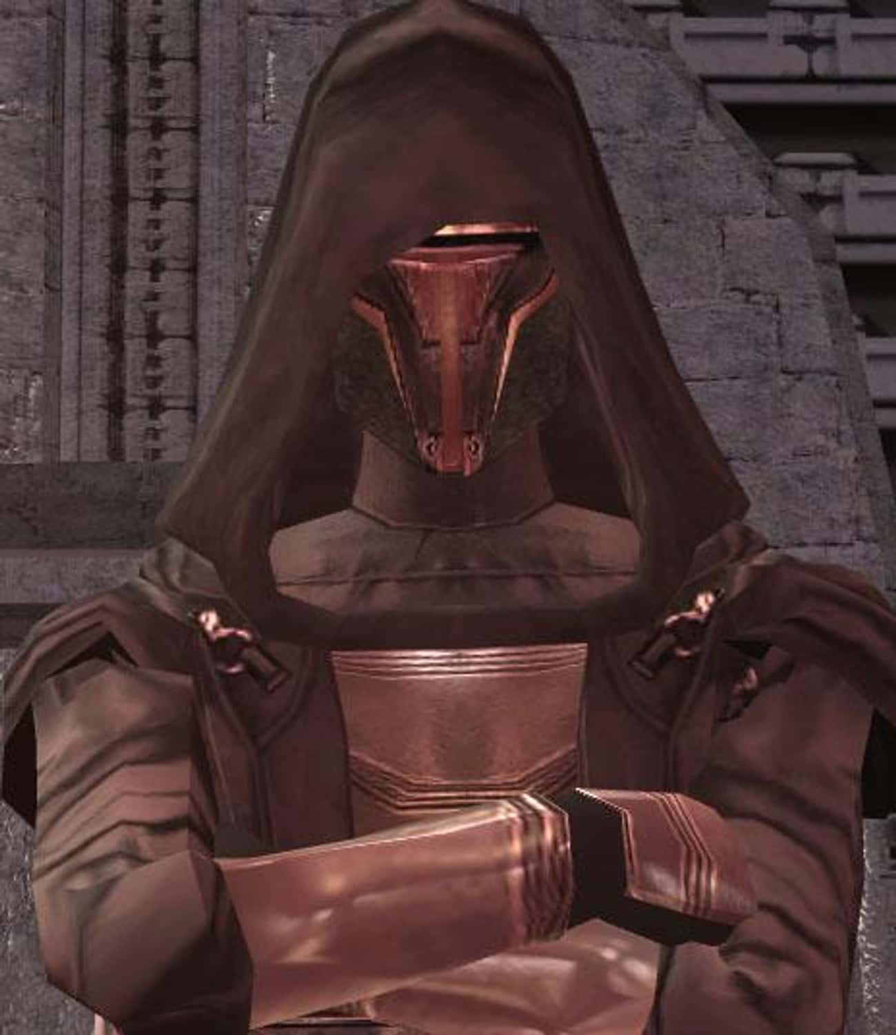 Revan is listed (or ranked) 3 on the list The Best Sith In The 'Star Wars' Universe