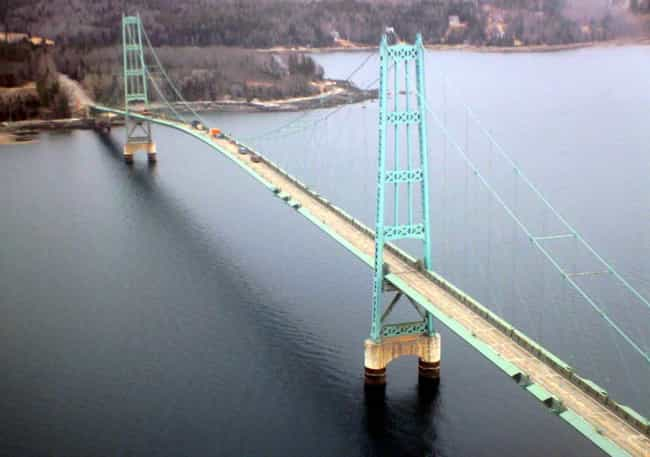 Deer Isle Bridge is listed (or ranked) 4 on the list Bridges in Maine