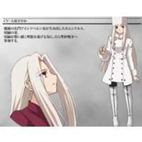Irisviel von Einzbern is listed (or ranked) 9 on the list List of Fate/Zero Anime Characters, Best to Worst