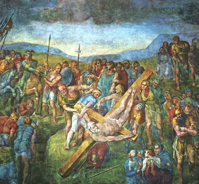 The Crucifixion of St. P... is listed (or ranked) 2 on the list Famous Michelangelo Paintings