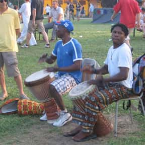 Djembe is listed (or ranked) 10 on the list Drum - Instruments in This Family