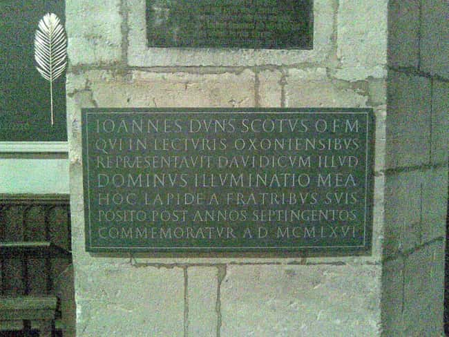 Duns Scotus is listed (or ranked) 11 on the list 12 Amazing Real-Life Resurrection Stories