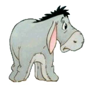 Eeyore is listed (or ranked) 9 on the list The Greatest Talking Animals in TV History