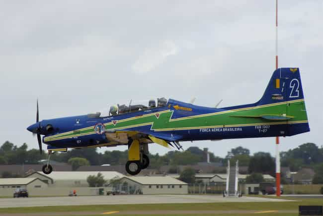 Embraer EMB 312 Tucano is listed (or ranked) 4 on the list Planes Used By Brazilian Air Force
