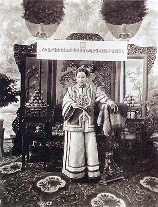 Empress Dowager Cixi is listed (or ranked) 1 on the list Members of the Qing Dynasty