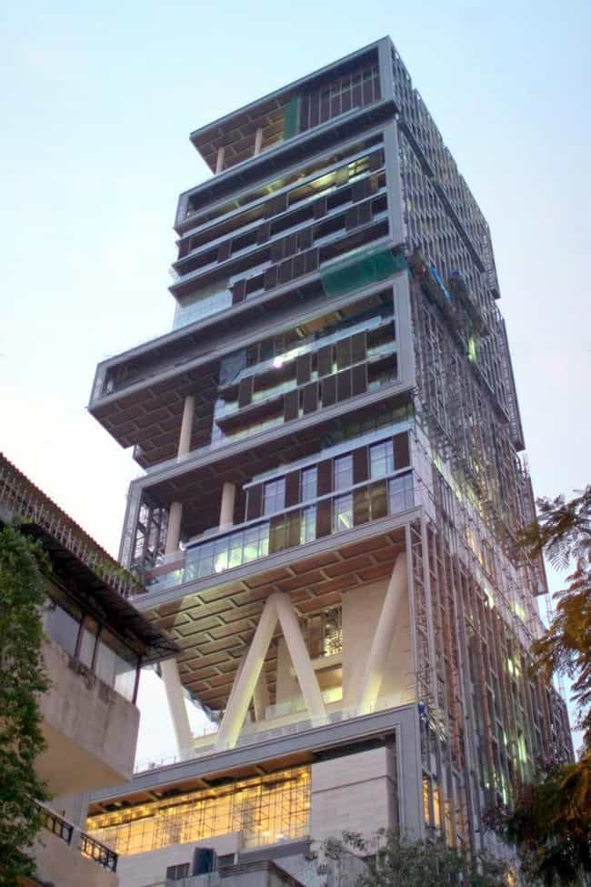Antilia is listed (or ranked) 1 on the list List of Famous Mumbai Buildings