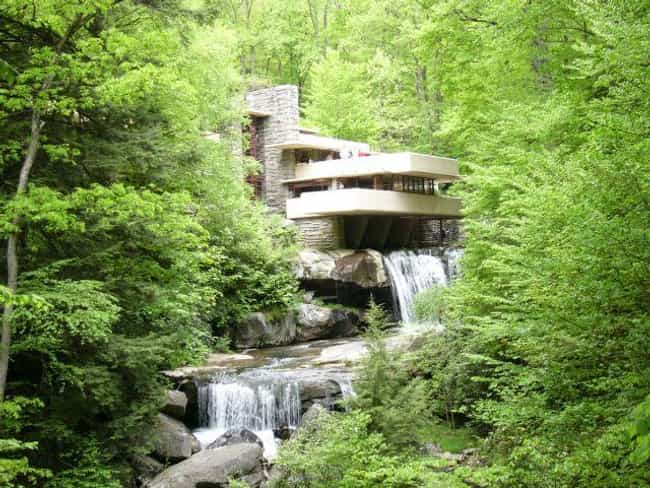 Fallingwater is listed (or ranked) 1 on the list The Greatest Architectural Marvels On Earth