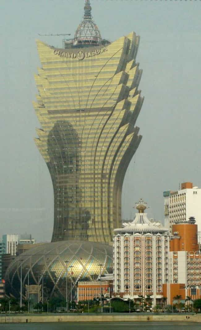 Grand Lisboa is listed (or ranked) 2 on the list Macau Architecture: Famous Landmarks and Buildings
