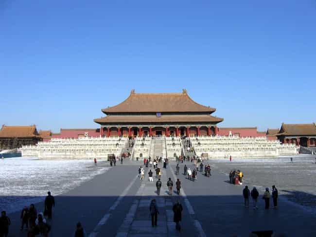 Forbidden City is listed (or ranked) 1 on the list Famous Chinese architecture buildings