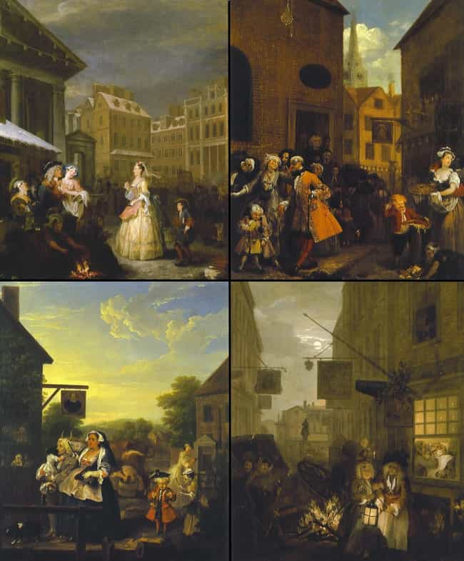 Four Times of the Day is listed (or ranked) 4 on the list Famous William Hogarth Paintings