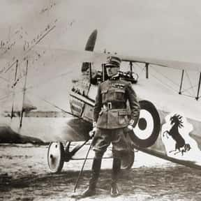 Francesco Baracca is listed (or ranked) 1 on the list The Top World War I Aces of Italy