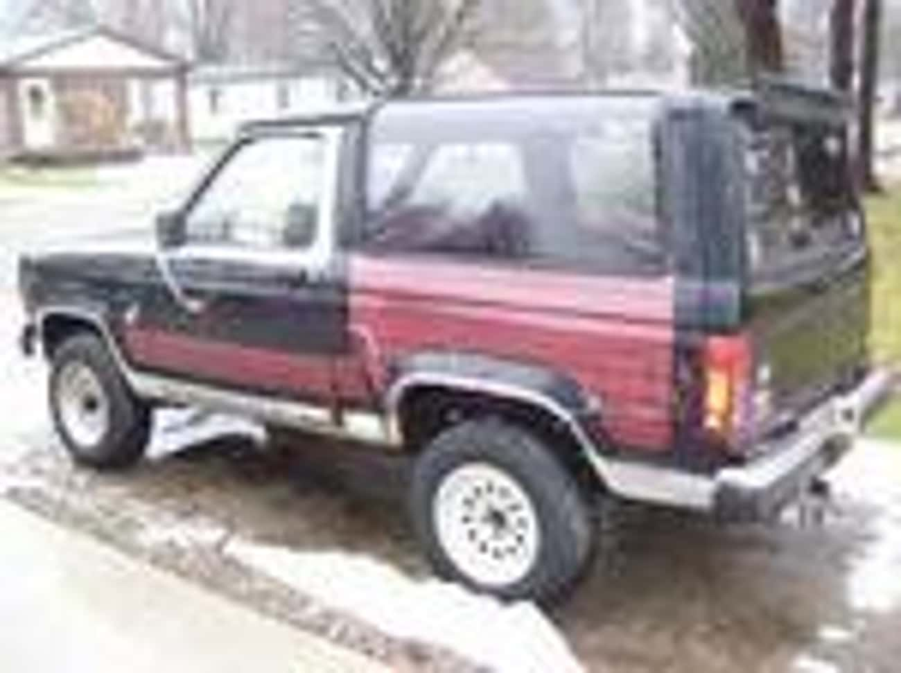 1986 Ford Bronco II SUV 4WD is listed (or ranked) 3 on the list List of Popular Ford Bronco IIs