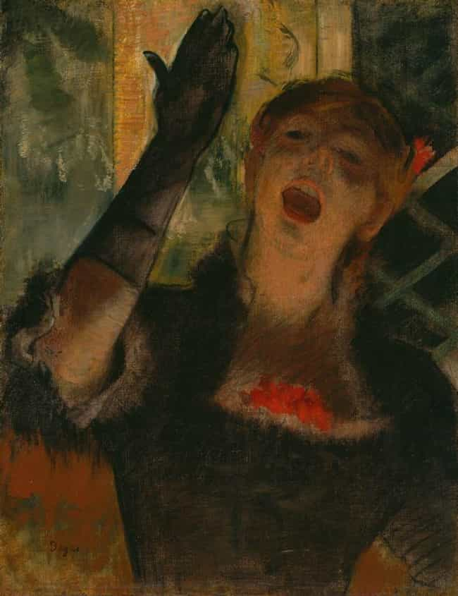 Café Singer is listed (or ranked) 4 on the list Famous Edgar Degas Paintings