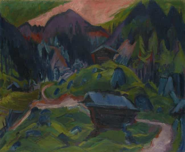 Kummeralp Mountain and T... is listed (or ranked) 3 on the list Famous Ernst Ludwig Kirchner Paintings