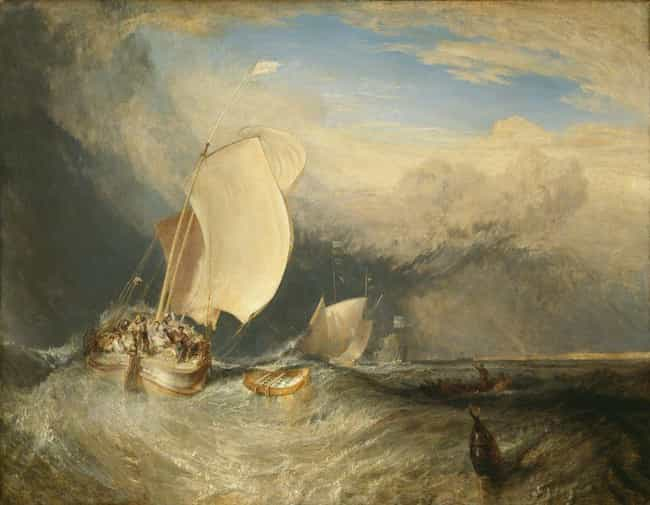 Fishing Boats with Hucks... is listed (or ranked) 2 on the list Famous J. M. W. Turner Paintings