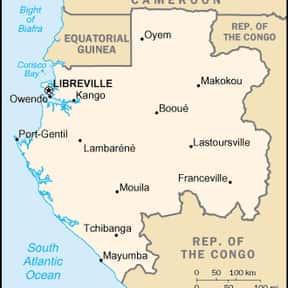 Gabon is listed (or ranked) 25 on the list Countries Ruled by a Republic
