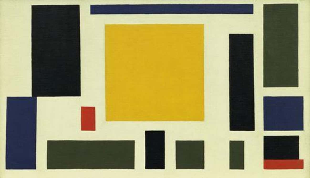 Composition VIII (The Cow) is listed (or ranked) 4 on the list Famous Abstract Arts by Theo Van Doesburg