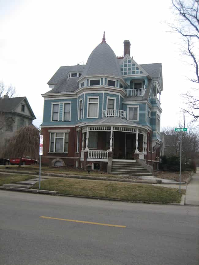 George H. Cox House is listed (or ranked) 3 on the list List of Famous Bloomington Buildings & Structures