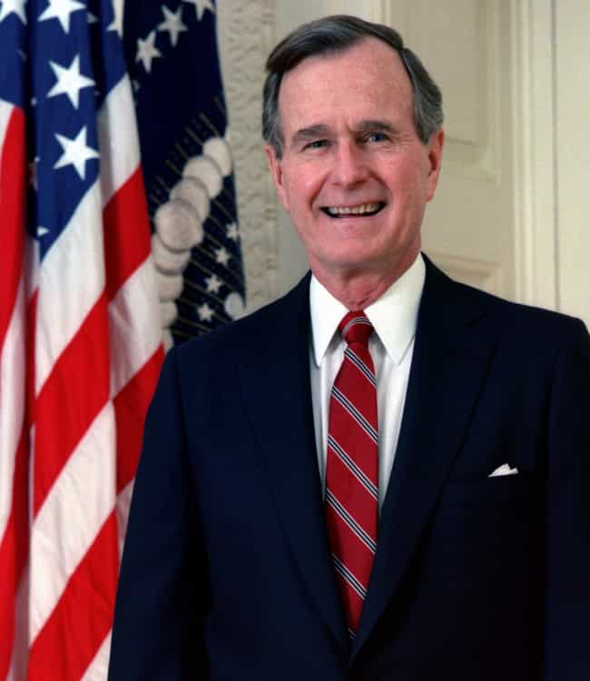 George H. W. Bush is listed (or ranked) 3 on the list US Presidents (Allegedly) in the Illuminati