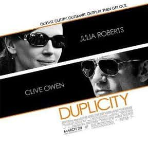Duplicity is listed (or ranked) 24 on the list The Greatest Spy Comedy Movies Ever Made