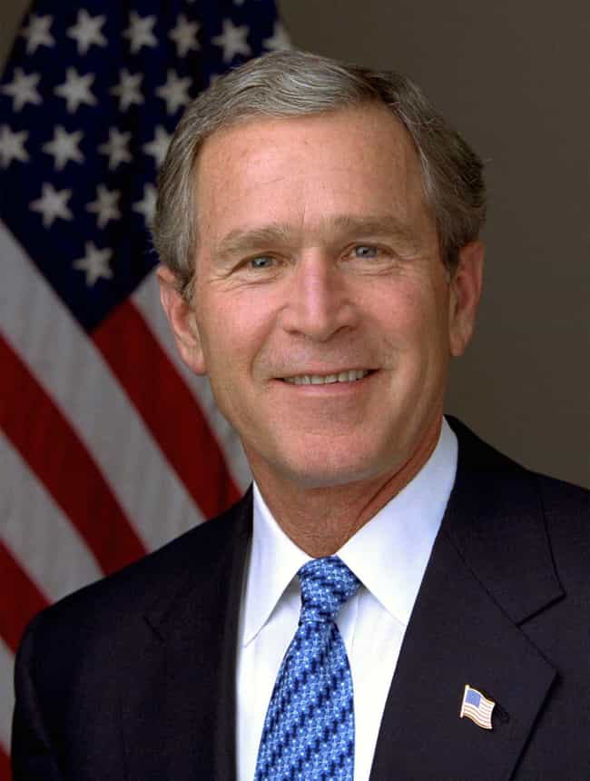 George W. Bush is listed (or ranked) 3 on the list Male Celebrities Who Are 5'11