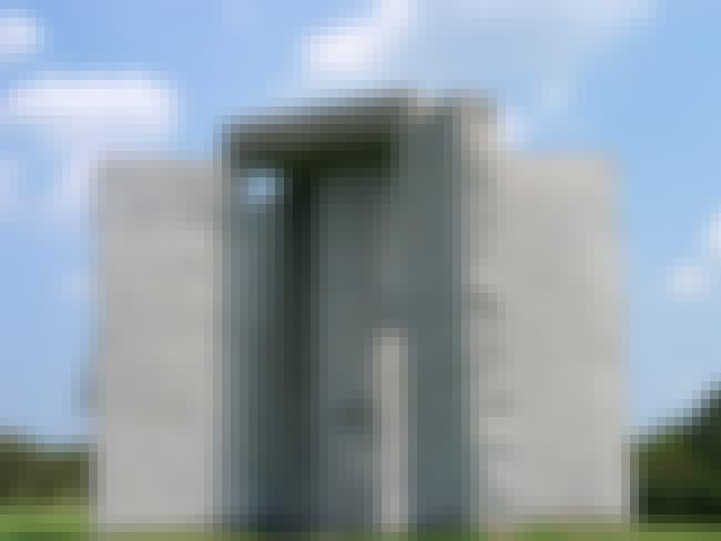 Georgia Guidestones is listed (or ranked) 6 on the list 16 Scary Conspiracy Theories About Population Control