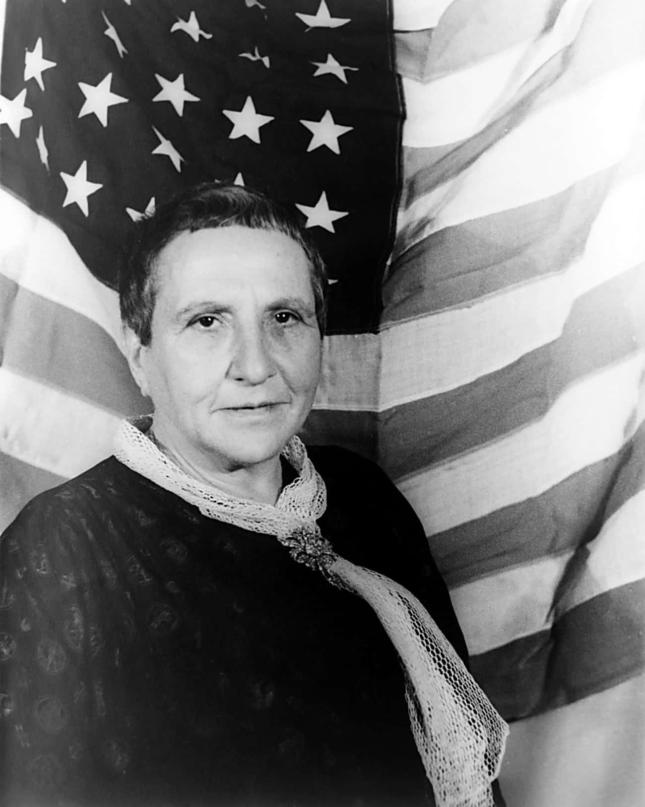 Gertrude Stein is listed (or ranked) 1 on the list 32 Famous Lesbian Poets Who Heavily Influenced Modern Poetry