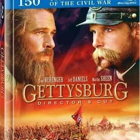 Gettysburg is listed (or ranked) 2 on the list The Most Patriotic Movies of All Time