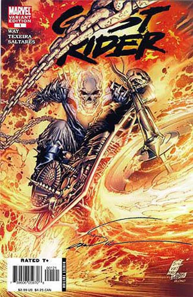 Ghost Rider is listed (or ranked) 14 on the list The Top 15 Marvel Heroes