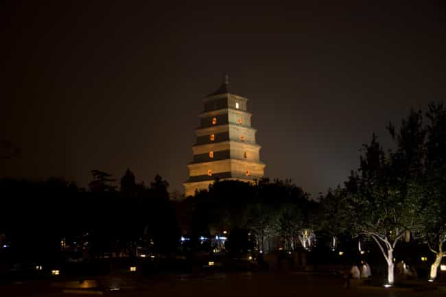 Giant Wild Goose Pagoda ... is listed (or ranked) 2 on the list Famous Chinese architecture buildings
