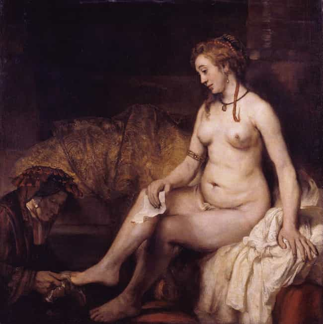 Bathsheba at Her Bath is listed (or ranked) 7 on the list Famous Rembrandt Paintings