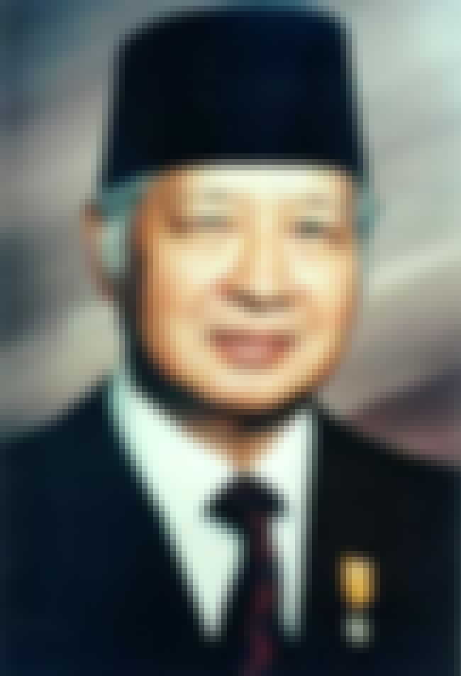 Suharto is listed (or ranked) 1 on the list The Top 10 Corrupt World Leaders