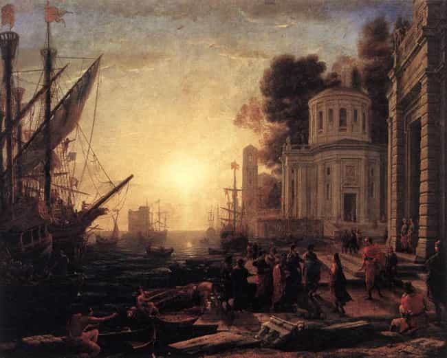 The Disembarkation of Cl... is listed (or ranked) 2 on the list Famous Claude Lorrain Paintings