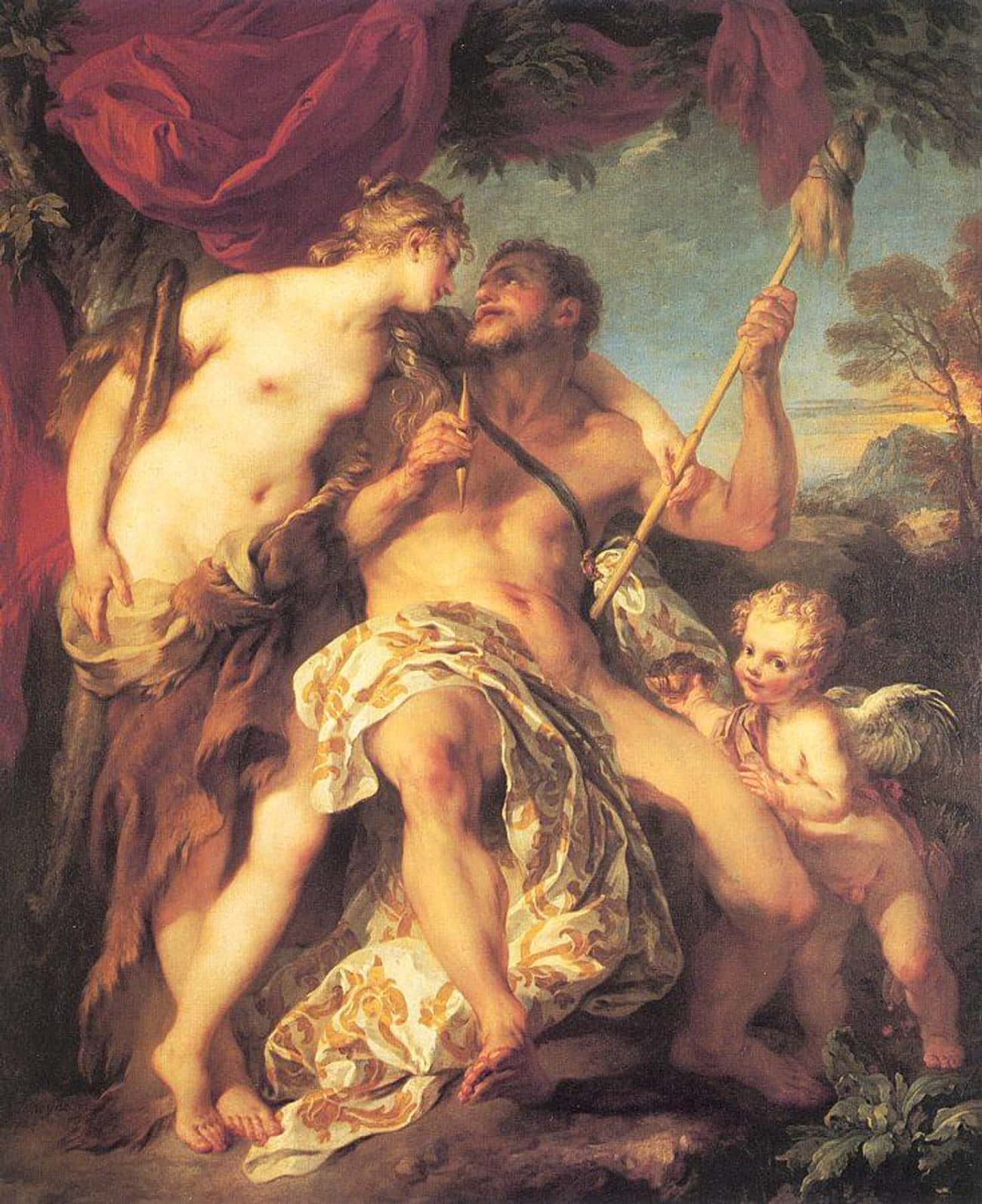 Hercules and Omphale is listed (or ranked) 3 on the list Famous Hercules Art