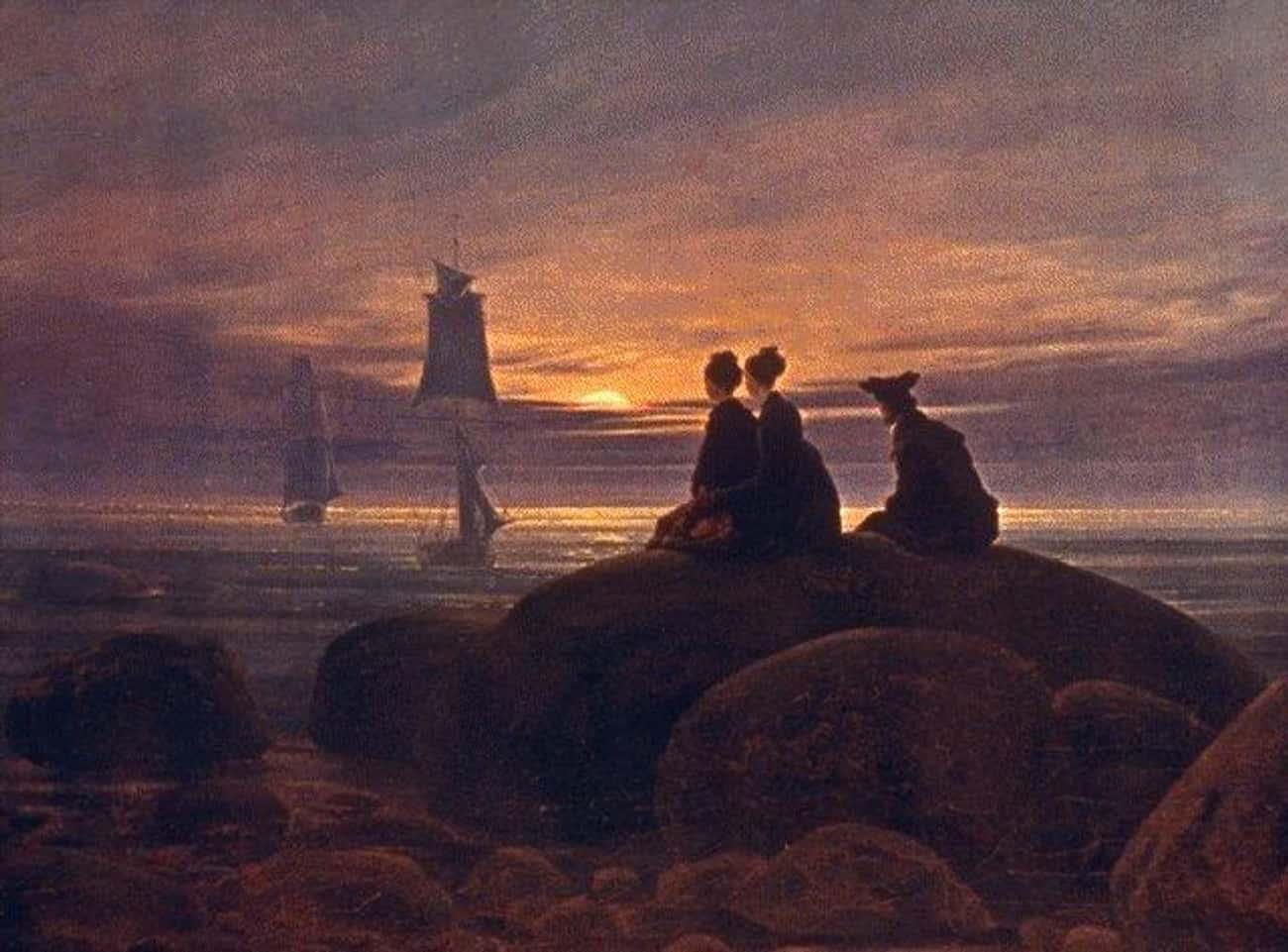 Moonrise Over the Sea is listed (or ranked) 1 on the list Famous German Romanticism Paintings