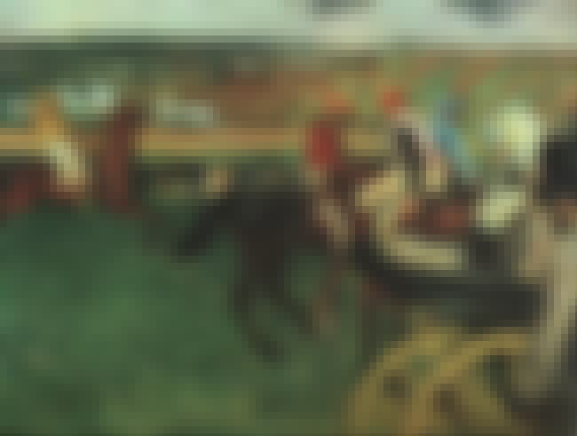 At the Races is listed (or ranked) 2 on the list Famous Edgar Degas Paintings