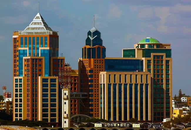 UB city is listed (or ranked) 4 on the list Bangalore Architecture: Famous Landmarks and Buildings