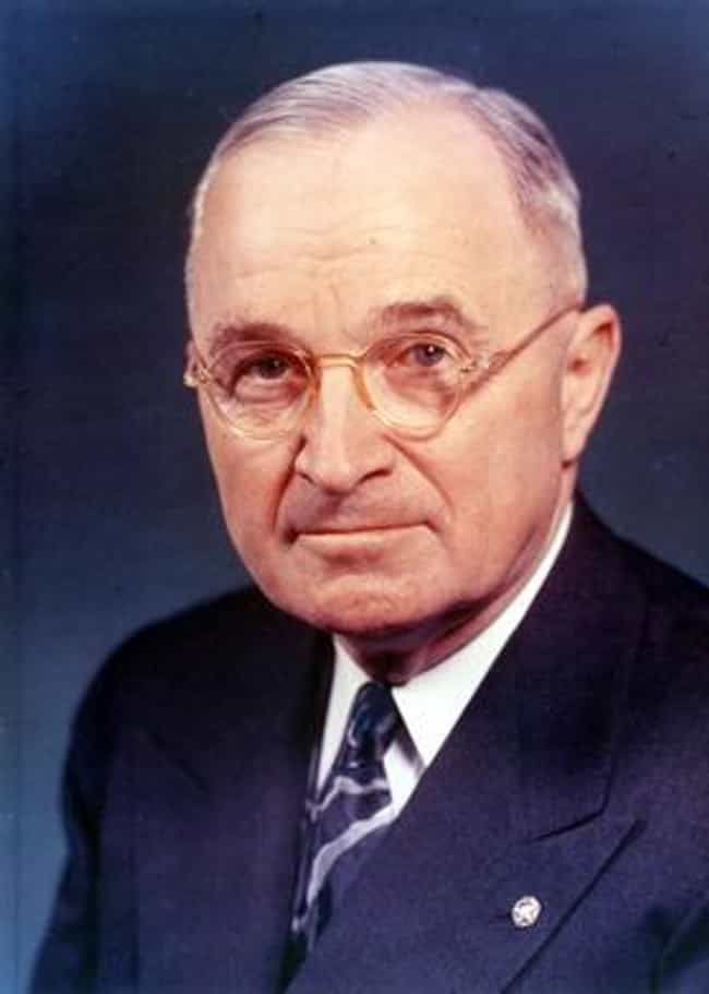 Harry S. Truman is listed (or ranked) 4 on the list Every US President Who Saw Combat In The Military