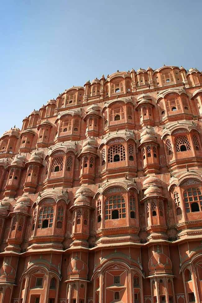 Hawa Mahal is listed (or ranked) 2 on the list Famous Mughal architecture buildings