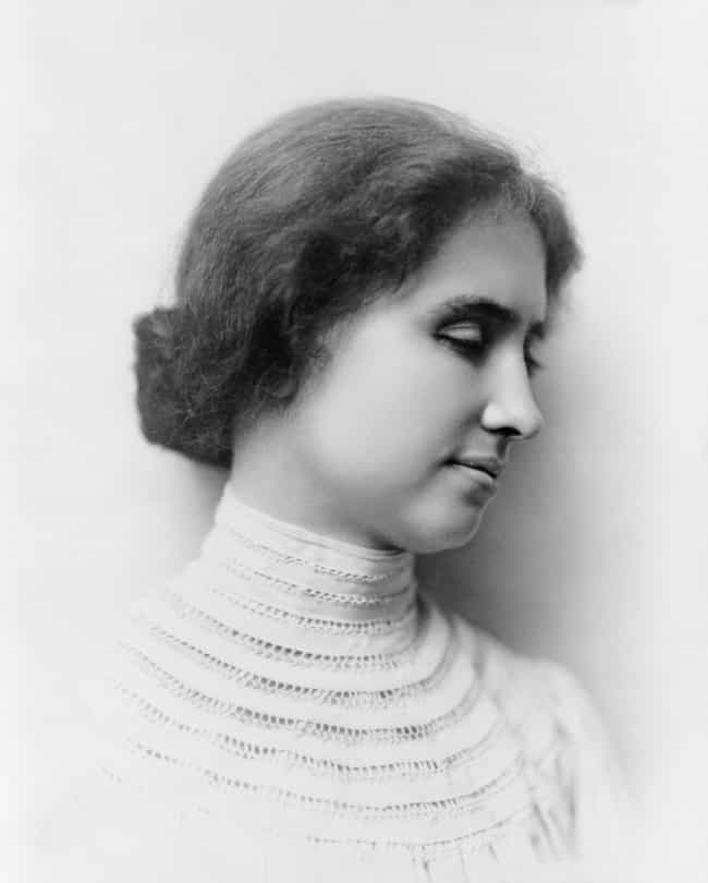 Helen Keller is listed (or ranked) 4 on the list 17 Famous Deaf People