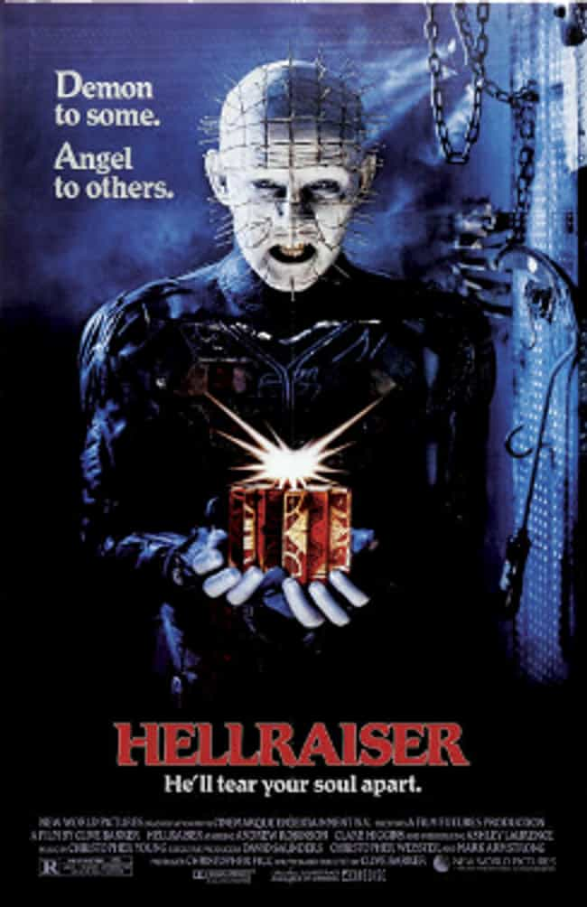 Hellraiser is listed (or ranked) 4 on the list 23 Super Awesome Horror Movies On Hulu You Can Watch Right Now