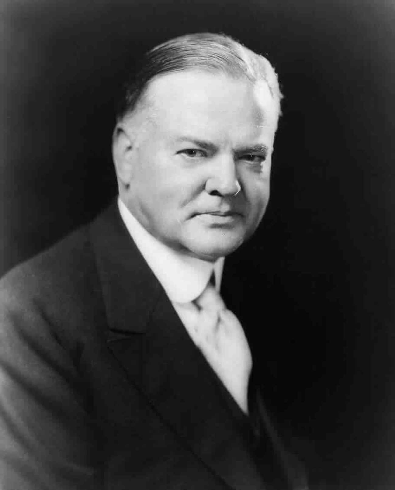 Herbert Hoover is listed (or ranked) 4 on the list The Worst U.S. Presidents